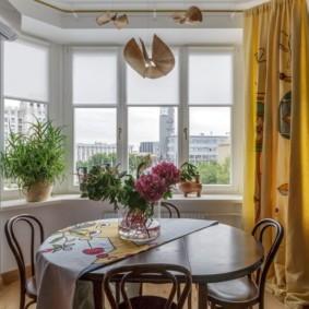 рулонные шторы на кухне виды идеи