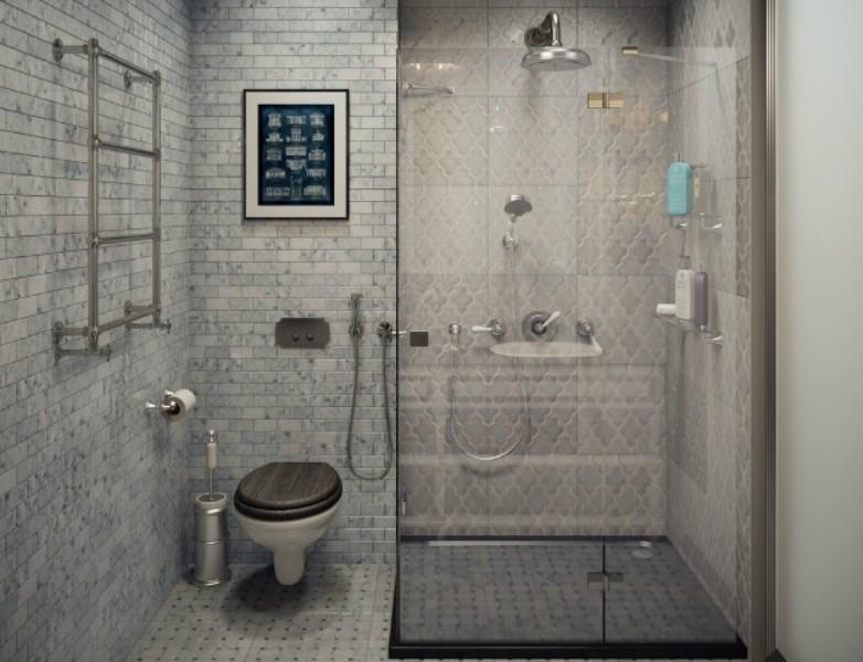 совмещенный санузел с душем