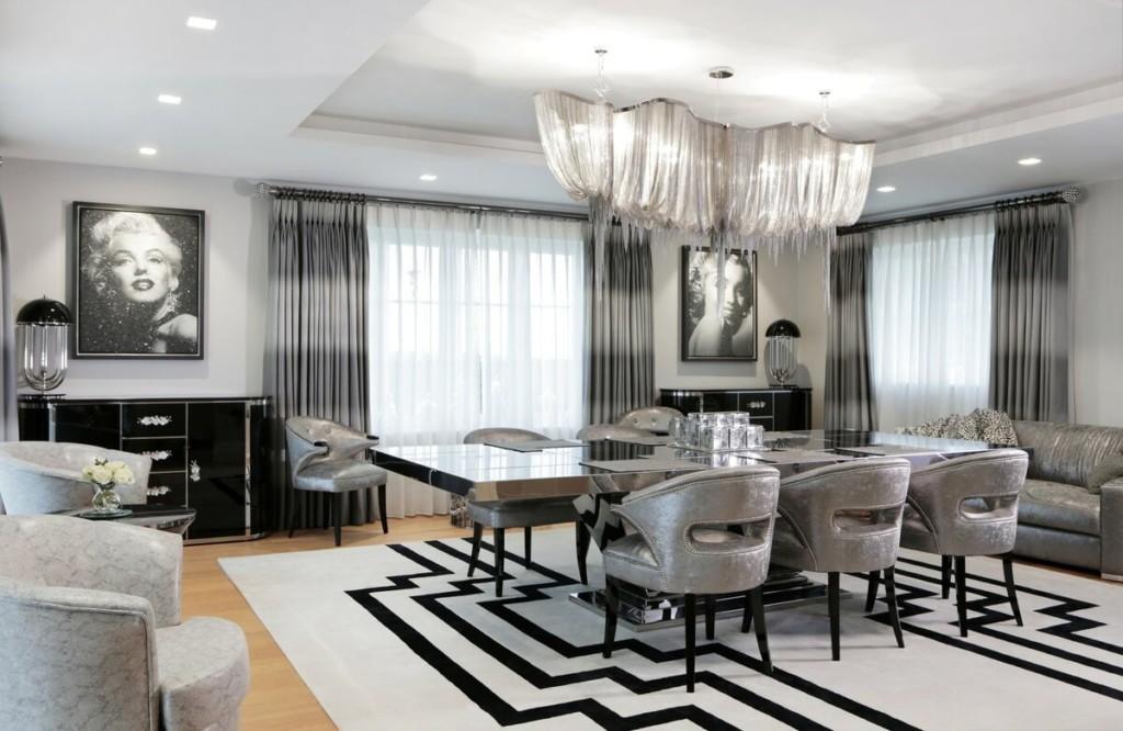 Серый арт-деко в интерьере квартиры