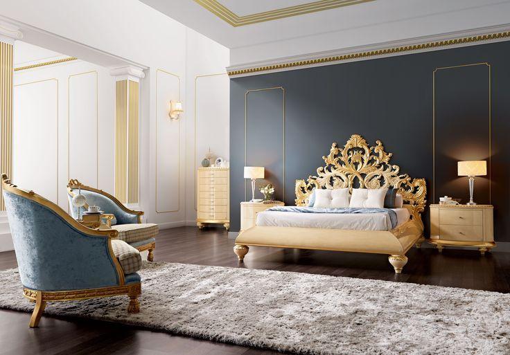 Ковер с длинным ворсом на полу спальни
