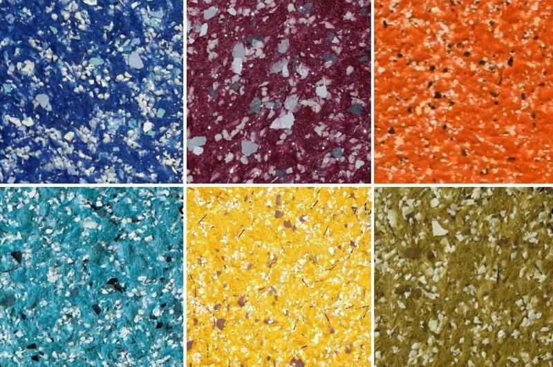 Примеры поверхностей из шелково-целлюлозных обоев