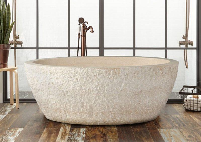 Шероховатая поверхность ванны из искусственного камня
