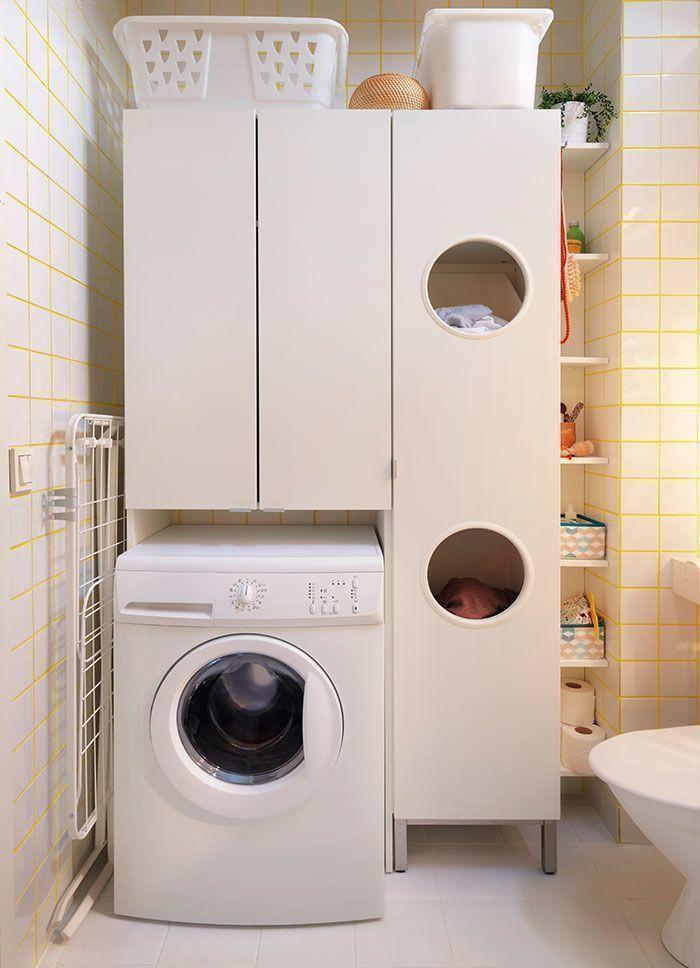 Шкаф для стиральной машинки в ванной большого размера