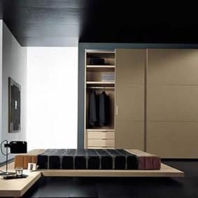 встроенный шкаф купе гардеробная в спальне