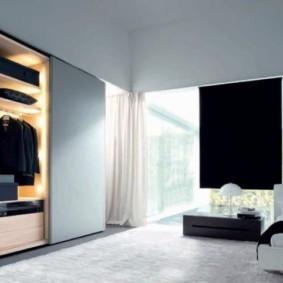встроенный шкаф купе в спальне внутри