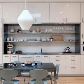 шкафы до потолка на современной кухне фото дизайн