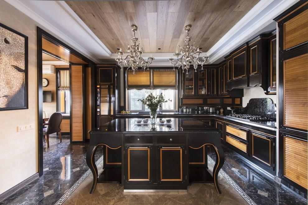 шкафы на кухню до потолка