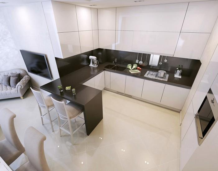 шкафы до потолка на кухне идеи декора