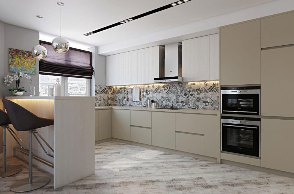 шкафы до потолка на кухне варианты