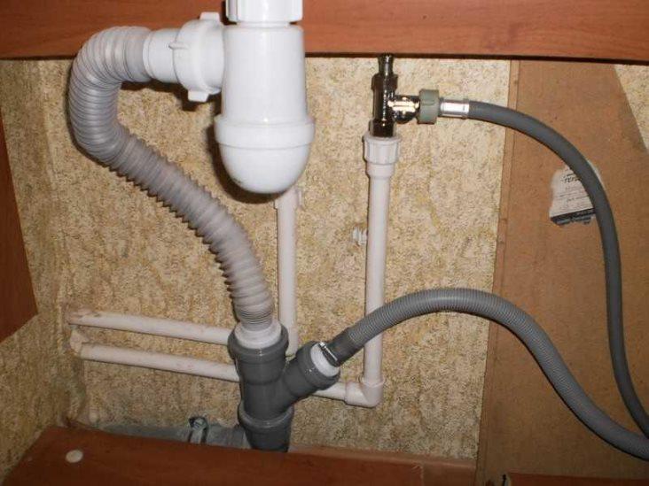 Подключение стиральной машинки в ванной комнате