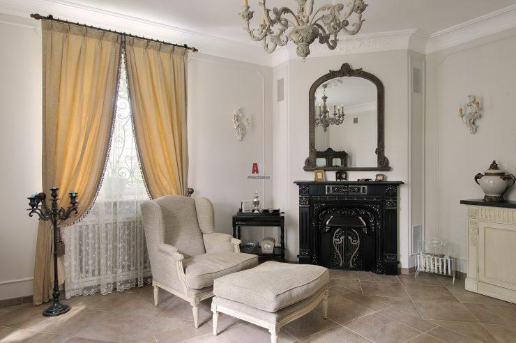 шторы в гостиной интерьер