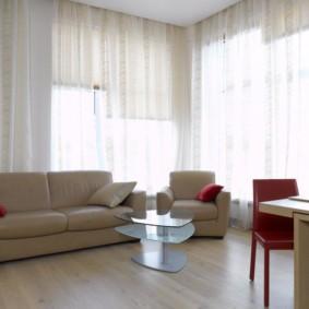шторы в гостиной виды