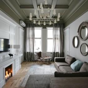 шторы в гостиной идеи интерьера