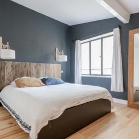 синяя спальня дизайн