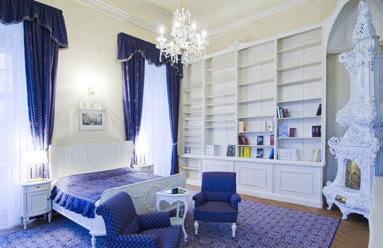 синяя спальня дизайн идеи
