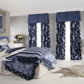 синяя спальня идеи