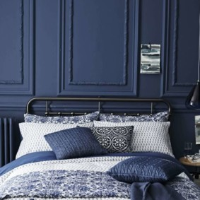 синяя спальня идеи дизайн