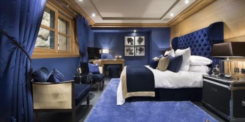 синяя спальня фото оформление