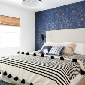 синяя спальня фото вариантов