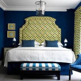 синяя спальня фото виды