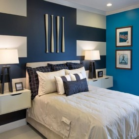 синяя спальня идеи дизайна