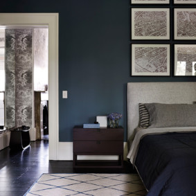 синяя спальня идеи интерьер