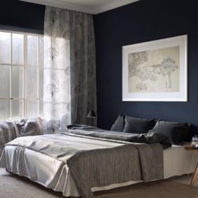 синяя спальня идеи оформление