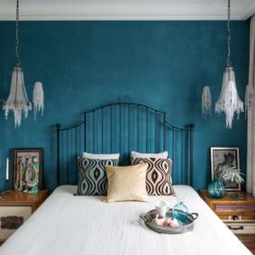 синяя спальня идеи варианты