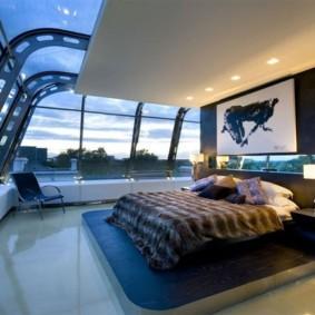 синяя спальня идеи видов