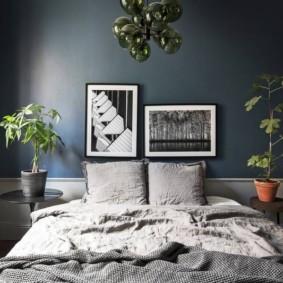 синяя спальня идеи виды
