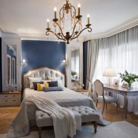 синяя спальня оформление идеи