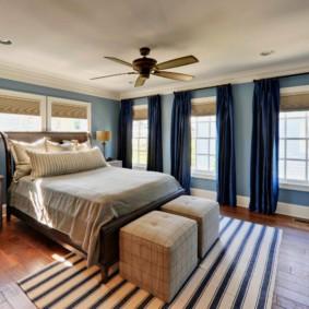 синяя спальня варианты фото