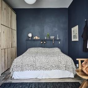 синяя спальня варианты идеи