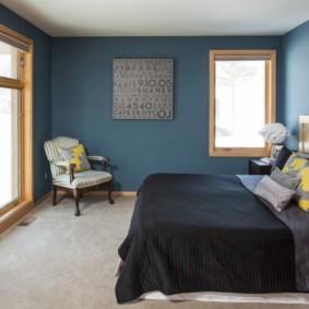 синяя спальня виды
