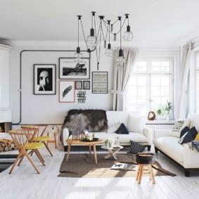 скандинавский стиль в гостиной декор фото