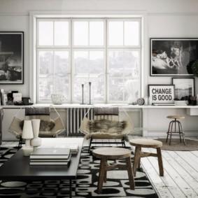 скандинавский стиль в гостиной декор идеи
