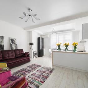 скандинавский стиль в гостиной дизайн фото