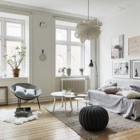 гостиная в скандинавском стиле дизайн идеи