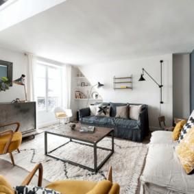 скандинавский стиль в гостиной фото декор