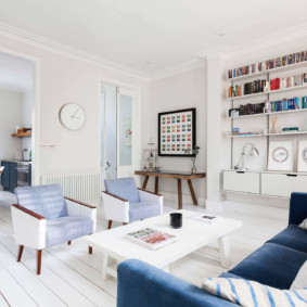 скандинавский стиль в гостиной фото декора