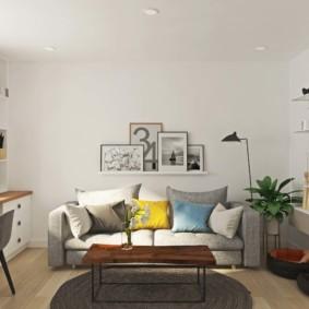 скандинавский стиль в гостиной фото дизайн