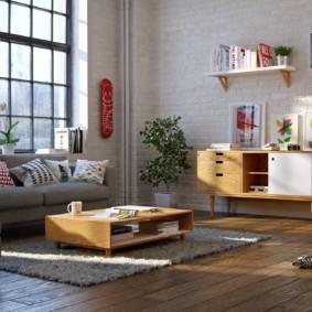 скандинавский стиль в гостиной фото идеи