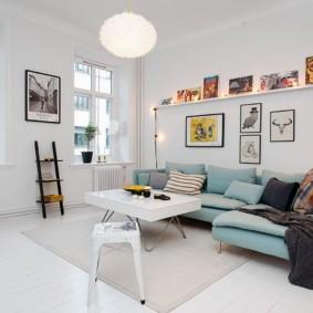 скандинавский стиль в гостиной фото оформления