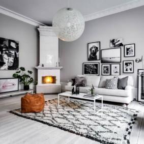 скандинавский стиль в гостиной фото вариантов