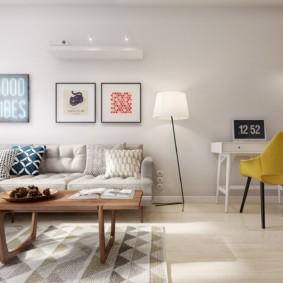скандинавский стиль в гостиной фото варианты