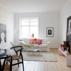скандинавский стиль в гостиной фото видов