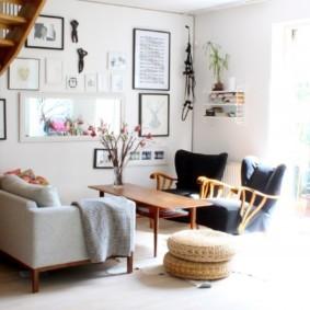 скандинавский стиль в гостиной фото виды