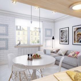 скандинавский стиль в гостиной идеи декора