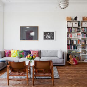 скандинавский стиль в гостиной идеи дизайн