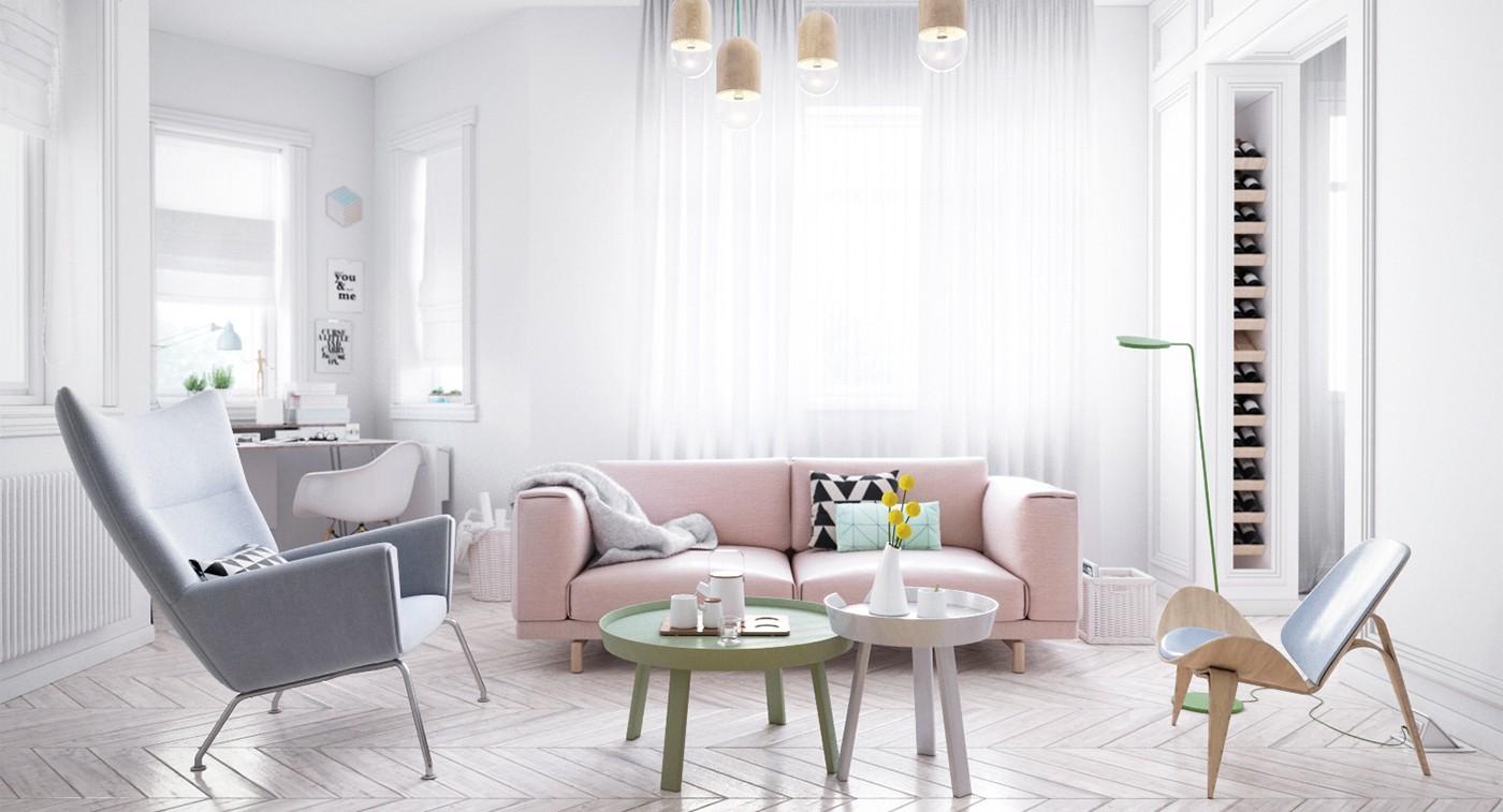 гостиная в скандинавском стиле идеи фото